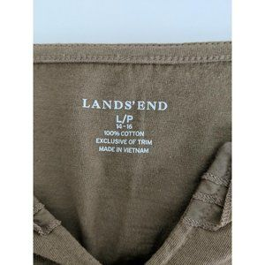 Lands' End Tops - Lands' End Solid Cotton Pleated Ruffle Knit Top